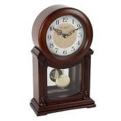 Wm. Widdop Wooden Quartz Mantel Clock With Pendulum Arabic Dial