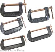 New Heavy Duty 5.1cm 7.6cm 10cm 15cm 20cm G Clamp Vice Wood Metal Steel Diy Welding Work New