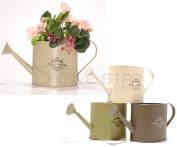 Metal Vintage Watering Can Planter Bucket Herb Flower Garden Decoration Pot