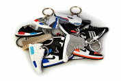 Mini Silicone Sneaker Keychain Charm Surprise Pack - 40 keychains
