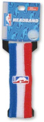Official NBA On-Court Logoman Headband - Red/White/Blue