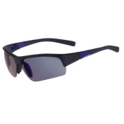 Nike Golf Show X2 Pro R Sunglasses, Matte Obsidian/Game Royal/Shatter Frame, Grey with Blue Night Flash