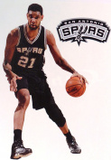 Tim Duncan Mini FATHEAD + San Antonio Spurs Logo Official NBA Vinyl Wall Graphics 18cm INCH