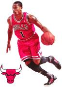Derrick Rose Mini FATHEAD + Chicago Bulls Logo Official NBA Vinyl Wall Graphics 18cm INCH