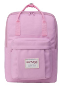 Cute Convertible Backpack for Girls - HotStyle Waterproof Schoolbag 16L - Pink