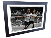 12x8 Signed Harry Kane Deli Alli Tottenham Hotspur Spurs Autographed Photo Photograph Picture frame Gift