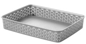 "Curver ""My Style - office"" Basket, Silver, 36 x 26 x 6 cm"