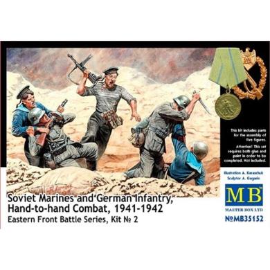 1:35 Hand-to-hand Combat 1941-1 Soviet Marines And German Infantry Figurines -