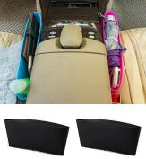 Vivian Catch Caddy Seat Catcher Plastic Car Auto Seat Side Slit Pocket Storage Bag Pack of 2PCS