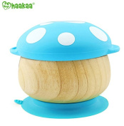 Haakaa Wooden Mushroom Bowl with Suction Base and Silicone Cap
