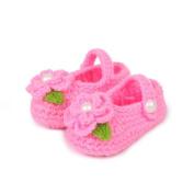 SPHTOEO Baby Infant Newborn Soft Warm Handmade Wool Knit Flowers Shoes 3-12 months