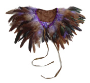 TOOKY Fashion Kids Feather Capes Stole Shawl Iridescent for Game Party Hallowmas