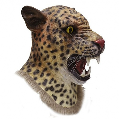 State Of Latex ® Latex Full Head Animal Cosplay Realistic Jaguar Wild Cat Fancy Carnival Photography Props Play Party Mask