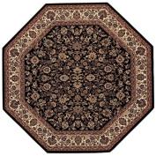 Couristan 3791/6025 Everest Isfahan/Black 1.5m Octagon Rug