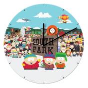 Vandor 39189 South Park 34cm Cordless Wood Wall Clock, Multicolor