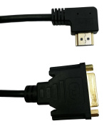 90 degree HDMI Male to DVI 24+5 Female Adapter Converter,QiCheng & Start, HDMI to DVI-D Video Cord 1080P for HDTV, Plasma, DVD and Projector