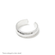 Silver Plated Adjustable Toe Ring - Classic Design