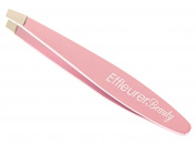 Effleurer Beauty Precision Mini Tweezers - 7 Exciting Colours To Choose From!! - Professional Stainless Steel Small Slant Tip Eyebrow Tweezer