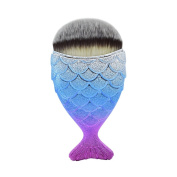 Dolovemk Chubby Fish-tail Makeup Brush for applying powder foundation, blush, highlighter, and contour products.