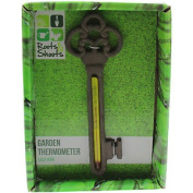 Roots & Shoots Key Cast Iron Hanging Wall Outdoor Garden Thermometer Temperature