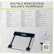 150kgs Clear Glass Digital Bathroom Weighing Body Fat Scale Black Lcd Display