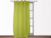 Croco Lime Green Embossed Eyelet Curtain 140x250 Cm By Soleil D'ocre