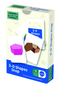 3d Shapes Snap And Pairs Cards - Educational Math Game For Children Ages 5 To 7