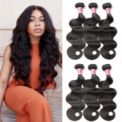 Beauty Princess Brazilian Hair 3 Bundles Body Wave 8A Virgin Unprocessed Human Hair Weave 16 18 20