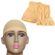 YOKWI 2pcs Unisex Elastic Wig Caps glueless Hair Net Wig Liner Hairnet Snood Nylon Stretch Mesh