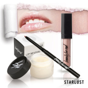 Perfect Pout Lip Set Beauty For Real Lip Revival Exfoliating and Hydrating Lip Scrub, D-fine Universal Lip Liner and Lip Gloss