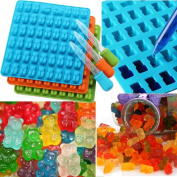 Hunpta 53 Cavity Silicone Gummy Bear Shape Chocolate Mould Candy Maker Ice Tray Jelly Moulds