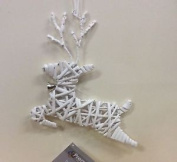 Pair Willow Reindeer Silouette White 26cm Christmas Decorations