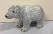 New Standing 30cm Silver Diamante Polar Bear Christmas Figure Decortaion