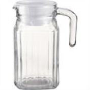 Quadro Fridge Jug 500ml Traditionally Styled Handled With Lid Designed To Fit Most Fridge Doors