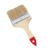 Large 10cm Flat Emulsion Paint Brush - Wooden Handle - Decorating