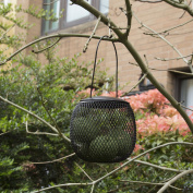 Chapelwood Hanging Bird Feed Globe Basket - Metal Mesh Food Container - Nut/seed