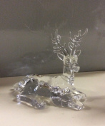 New 15cm Acrylic Sitting Reindeer Christmas Decoration / Figure Offer!