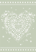 Home & Dry 100% Cotton Tea Towel - Home Is Where The Heart Is