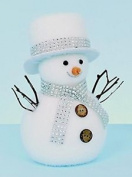 Premier Standing Snowman With Diamante Scarf 'white' 23cm Christmas Figure