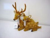 New Sitting Reindeer Deer/doe Ornament/figur