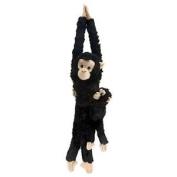 Wild Republic 51cm Hanging Monkey Chimp Mama With Baby Plush