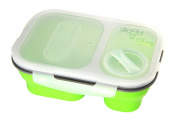 Good 2 Go Rectangular Expanding Lunch Box Picnic 2 Compartments Lime Green