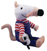 Maisy the Mouse - 38cm Large Dressed in Overalls and Holding Panda - Lucy Cousins Collectable