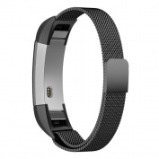 Fitbit Alta Hr and Alta Bands, Simpeak Stainless Steel Strap Replacement Band for Fitbit Alta & Alta HR, Black