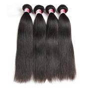 Beauty Princess Malaysian Straight Hair 4 Bundles 8A Grade Remy Human Hair Weave Bundles Skilly Straight Hair 20cm - 70cm Natural Black Colour