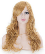 Curly Wig Attractive Women Mid-length Layered Curly Wig with Free Wig Cap and Wig Comb