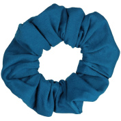Teal Cotton Jersey Scrunchies Large Jumbo Ponytail Holders Scrunchie King Made in the USA