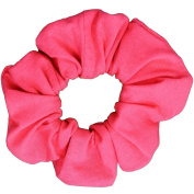 Coral Cotton Jersey Scrunchies Large Jumbo Ponytail Holders Scrunchie King Made in the USA