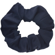 Navy Cotton Jersey Scrunchies Large Jumbo Ponytail Holders Scrunchie King Made in the USA