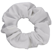 White Cotton Jersey Scrunchies Large Jumbo Ponytail Holders Scrunchie King Made in the USA